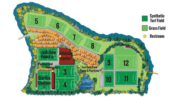 Starfire Field Map The Starfire Campus – Starfire Sports Starfire Field Map